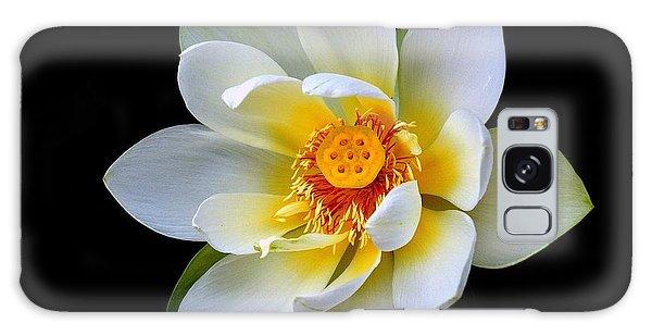 White Lotus Flower Galaxy Case