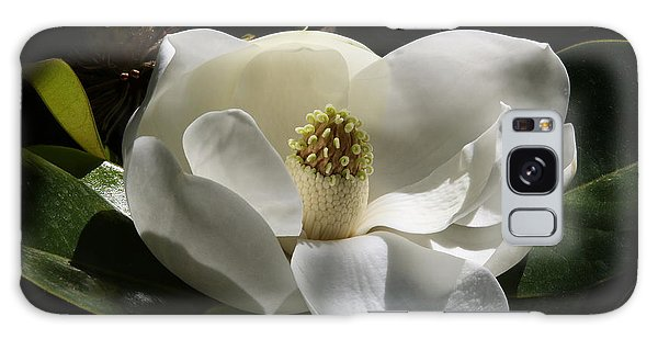 White Magnolia Flower Galaxy Case