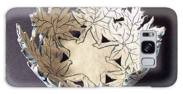 White Maple Leaf Bowl Galaxy Case