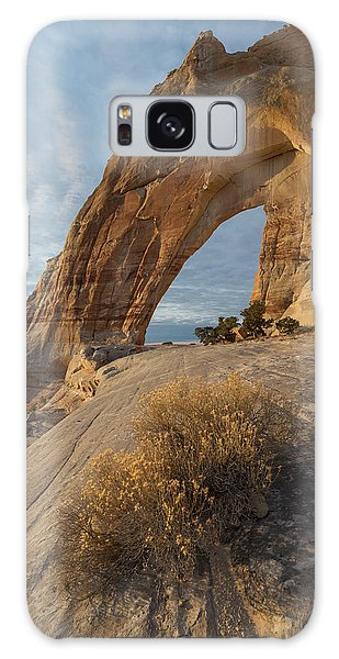 White Mesa Arch Galaxy Case by Dustin LeFevre