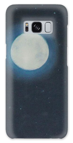 White Moon At Night Galaxy Case