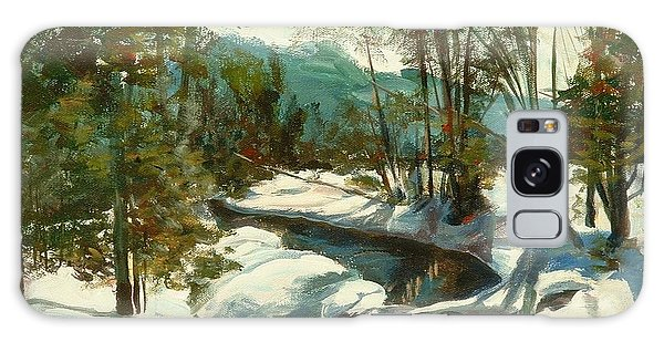 White Mountain Winter Creek Galaxy Case