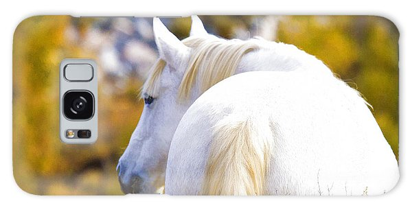 White Mustang Mare Galaxy Case