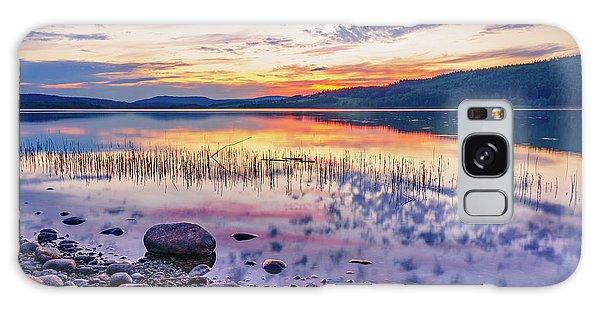 White Night Sunset On A Swedish Lake Galaxy Case