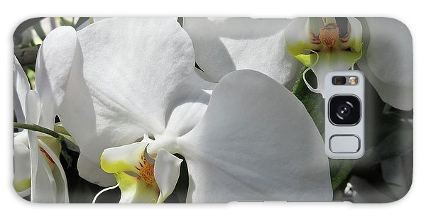 White Orchid Bloom Duo Galaxy Case