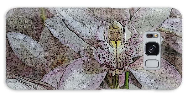 White Orchid Flower Galaxy Case by Gary Crockett