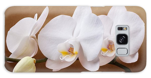 White Orchid Flowers And Bud Galaxy Case