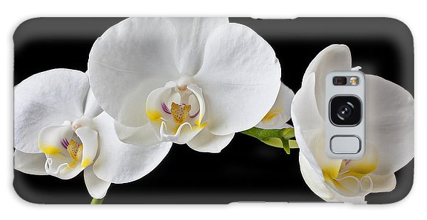 Orchidaceae Galaxy Case - White Orchid by Garry Gay