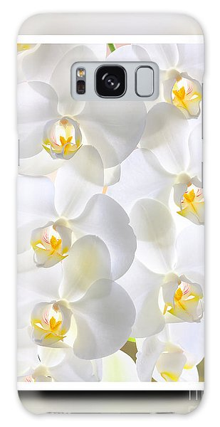 White Orchids Framed Galaxy Case