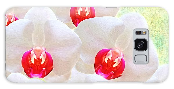 Orchidaceae Galaxy Case - White Orchids by Laura D Young
