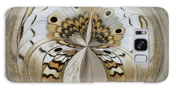 White Peacock Butterfly Orb Galaxy Case