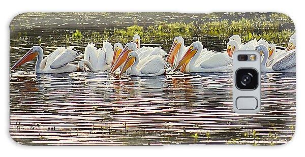 White Pelican Parade Galaxy Case