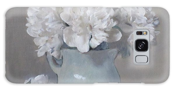 Gray Day For White Peonies Galaxy Case