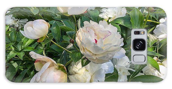 White Peonies In North Carolina Galaxy Case