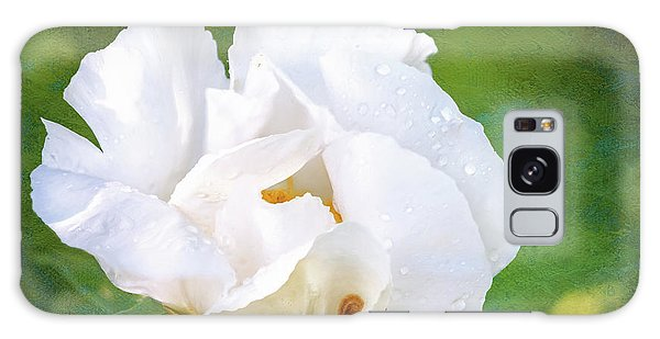 White Peony After The Rain Galaxy Case