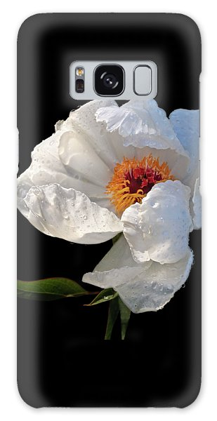 White Peony After The Rain Galaxy Case by Gill Billington