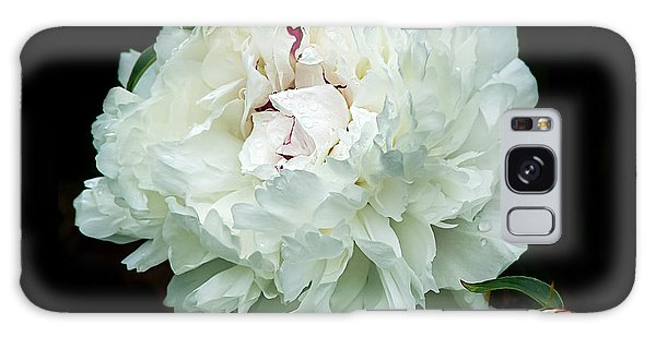 White Peony And Buds Galaxy Case