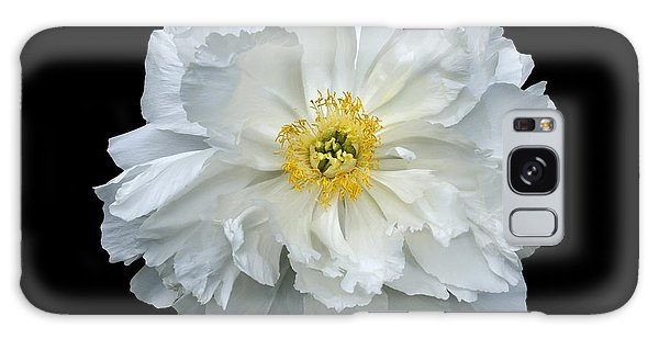 White Peony Galaxy Case by Charles Harden