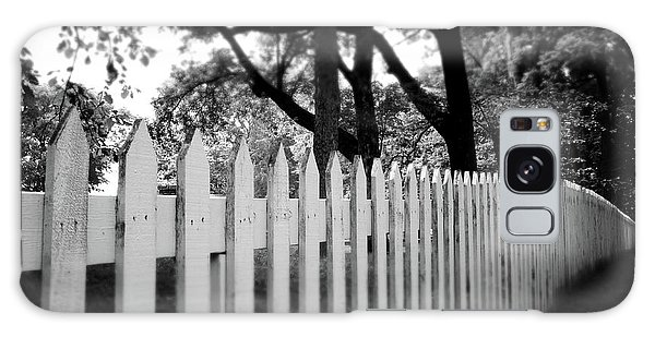 Greeting Galaxy Case - White Picket Fence- By Linda Woods by Linda Woods