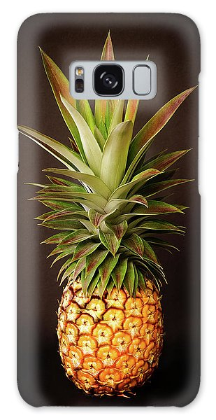 White Pineapple King Galaxy Case