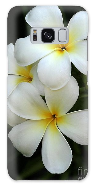 White Plumeria Galaxy Case
