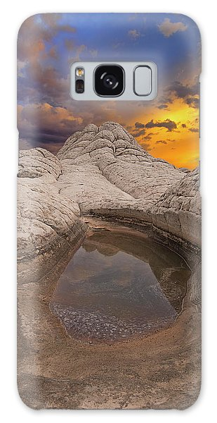White Pocket Sunset Galaxy Case