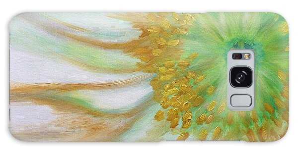 White Poppy Galaxy Case by Sheron Petrie