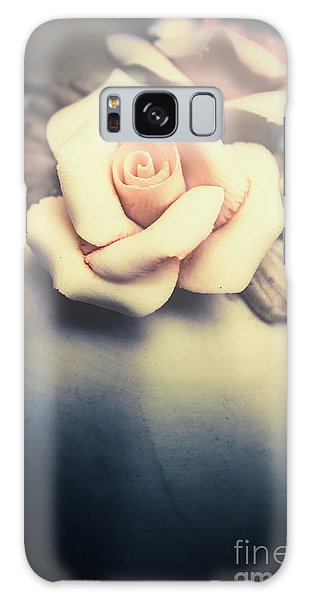 Stone Wall Galaxy Case - White Porcelain Rose by Jorgo Photography - Wall Art Gallery