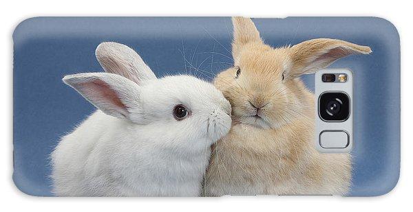 White Rabbit And Sandy Rabbit Galaxy Case