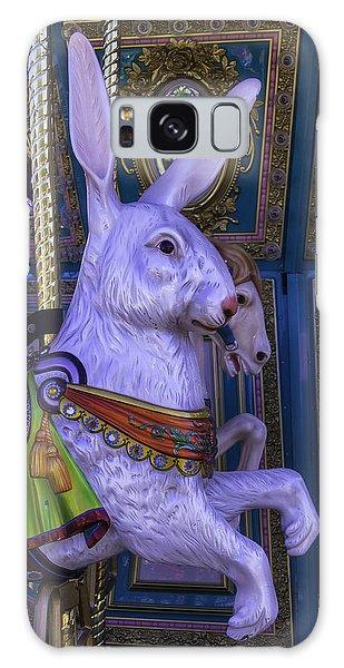 County Fair Galaxy Case - White Rabbit Carrousel Ride by Garry Gay