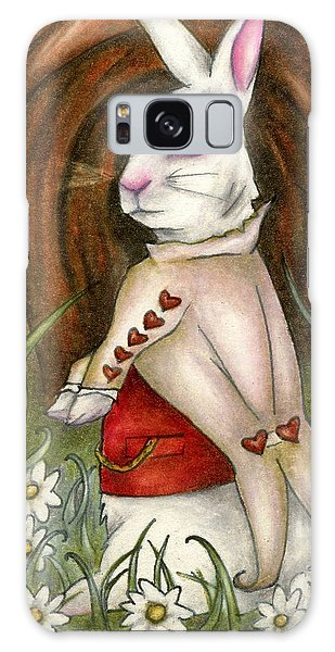 White Rabbit On Way To Wonderland Galaxy Case