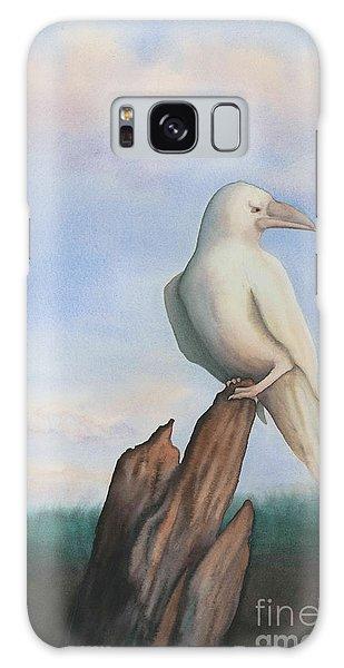 White Raven Galaxy Case by Anne Havard
