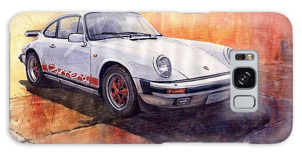 Sport Car Galaxy Case - White Red Legend Porsche 911 Carrera by Yuriy Shevchuk