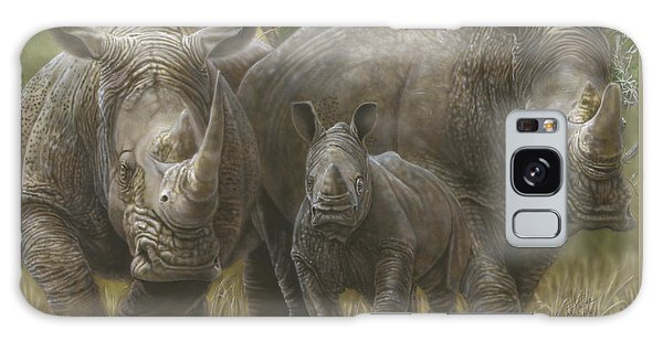 White Rhino Family - The Face That Only A Mother Could Love Galaxy Case