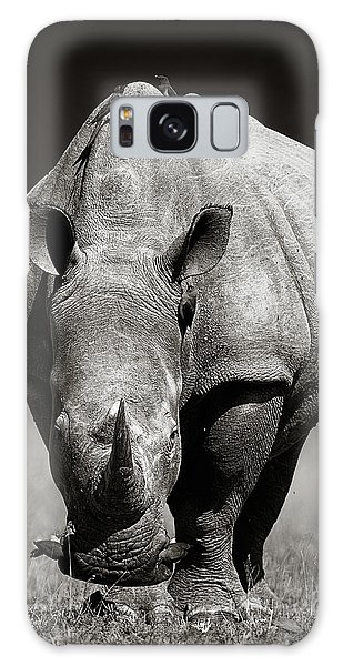 Angle Galaxy Case - White Rhinoceros  In Due-tone by Johan Swanepoel