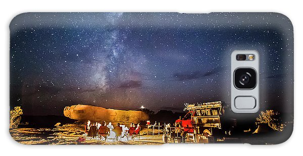 White Rim Camp Galaxy Case