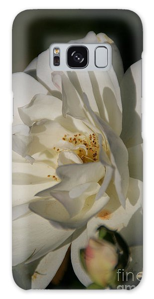 White Rose Galaxy Case by Andrea Jean