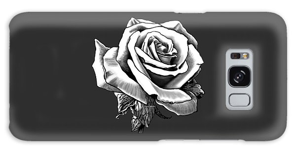 White Rose For The Lady Galaxy Case