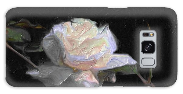 White Rose Painting Galaxy Case