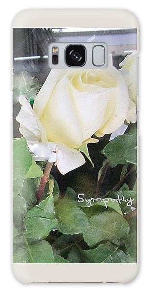 White Rose - Sympathy Card Galaxy Case