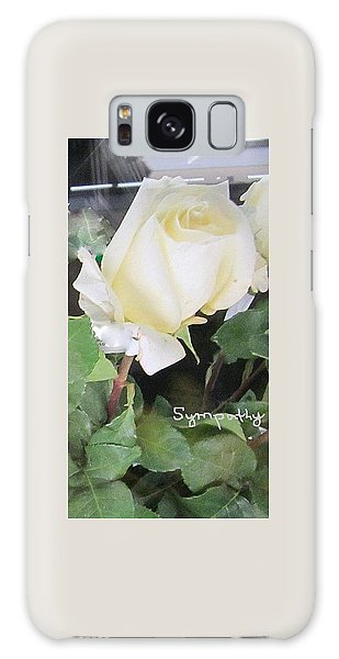 White Rose - Sympathy Card Galaxy Case