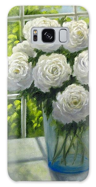 White Roses Galaxy Case