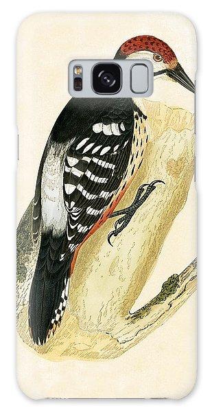 White Rumped Woodpecker Galaxy Case