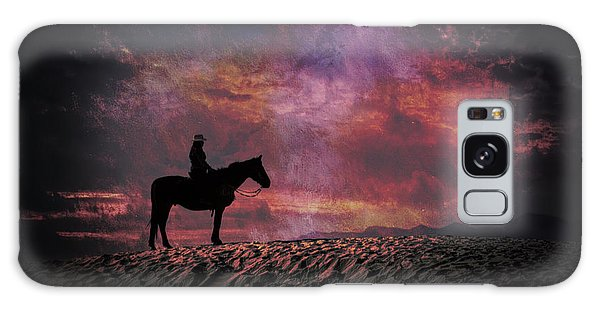 White Sands Horse And Rider #4c Galaxy Case
