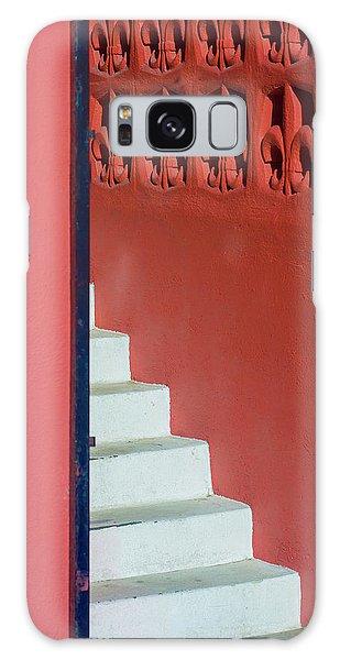 White Staircase Venice Beach California Galaxy Case