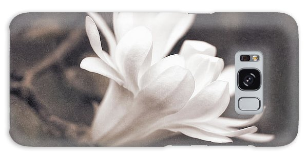 Galaxy Case featuring the photograph  White Star Magnolia Blossom by Jennie Marie Schell