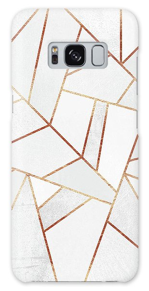 White Stone And Copper Lines Galaxy Case by Elisabeth Fredriksson