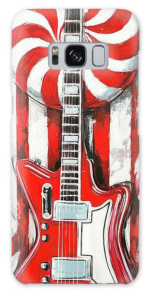 White Stripes Guitar Galaxy Case