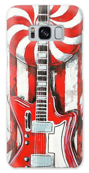 White Stripes Guitar Galaxy Case
