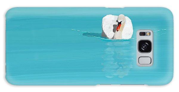 White Swan Blue Lake Galaxy Case